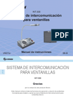 Manual Intercomunicador INT-300