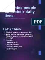 PRESENT SIMPLE - Activities People Do in Their Daily Lives