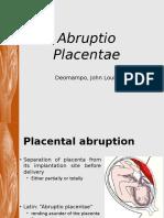 Abruptio Placentae - 1 Definition and Pathogenesis