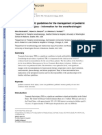 Update on the 2012 Guidelines for the Management of Pediatric