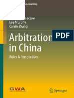 (China Law, Tax &Amp_ Accounting) Giovanni Pisacane, Lea Murphy, Calvin Zhang (Auth.)-Arbitration in China_ Rules &Amp_ Perspectives-Springer Singapore (2016)