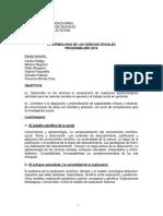774 Epistemología de Las Ciencias Sociales Hidalgo 2016