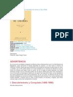 Historia de Colombia Narrada en Verso a Los Niños
