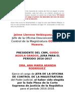 El Presidente de La Corte Suprema de Justicia Del Perú Es Elegido El Primer Jueves Del Mes de Diciembre
