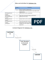 P4-4 Table of Entities and Activities, Context Diagram  (Erickson Inc.)