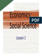 Lesson 1. Economics. Social Science