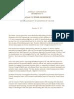 Apostolic Constitution Sacram Unctionem