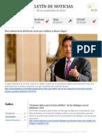 Boletín de noticias KLR 28SEP2016