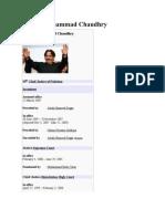 Chief Justice of Pakistan Iftikhar Muhammad Chaudhry- Wikipedia