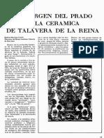La Virgen Del Prado y La Cerámica de Talavera de La Reina