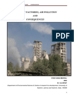 Cement Factories, Air Pollution and Consequences