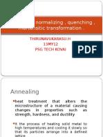 Annealing normalizing quenching
