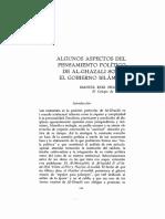 ALgunos aspectos del pensamiento politico de AL-Ghazali sobre el gobierno islamico