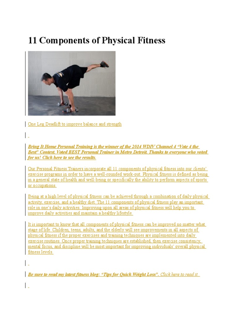 11 Components Of Physical Fitness Physical Fitness Flexibility Anatomy