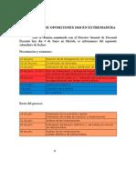 Oposiciones Extremadura Calendario orientativo