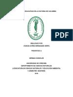 Políticas Educativas en La Historia de Colombia