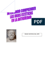 Intentando comprender las ideas estéticas en la antigüedad