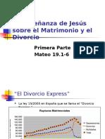 Mateo 19_1-6 La Enseñanza de Jesús Sobre El Matrimonio y El Divorcio 1ª Parte