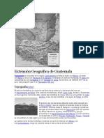 Extensión Geográfica de Guatemala