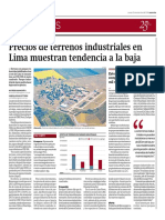 Precios de Terrenos Industriales en Lima, Binswanger Perú