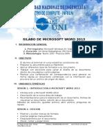3 Silabo de Word 2013
