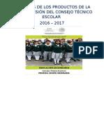 Formatos Productos 1a. Sesión CTE 2016-17