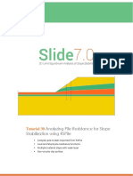 Tutorial 30 Analyzing Pile Resistance for Slope Stabilization Using RSPile