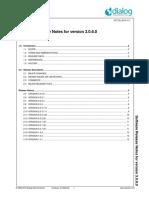 DA1458x Software Release Notes v 3 0 6 0