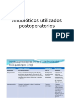 Antibióticos utilizados postoperatorios