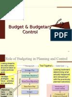 Ch3. Budgetary Control