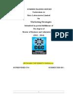 Marketing Strategy of Marc Lab