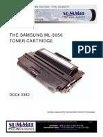 ML-3050 Refill Instruction