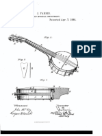 U.S. Patent 315,135, Stringed Misical Instrument, Issued 1885.