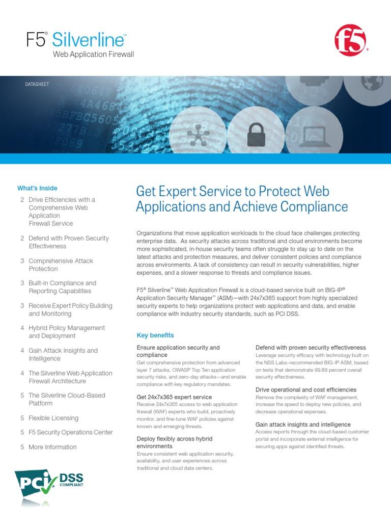 f5 Silverline Web Application Firewall Datasheet | Denial Of Service