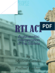 RTI Act - Authentic Interpretation of the Statute