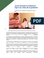 Noticia Automedicación Durante El Embarazo Pone en Peligro Las Vidas de La Gestante y Su Bebé