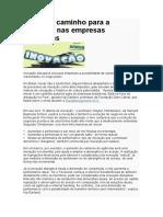 Um Novo Caminho Para a Inovação Nas Empresas Brasileiras