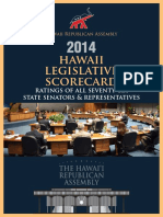 HIRA 2014 Hawaii Legislative Scorecard