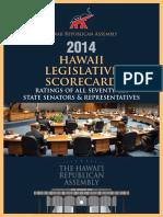 HIRA 2014 Hawaii Legislative Scorecard