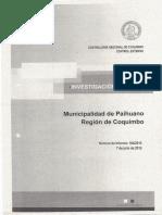 Investigación Especial 164/2016 de Contraloría en Municipalidad de Paihuano