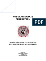 Shorin-Ryu Home Study Course Student Guidebook