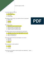 Physics Questions List