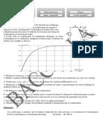 Série d'Exercices - Physique Dipôle RC - Bac Sciences Exp (2010-2011) Mr Baccari Anis
