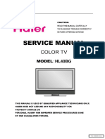 Haier HL40BG Lcd Tv Service Manual