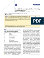 Matthew Dintzner - Cyclohexanol Cycle and Synthesis of Nylon 6 6
