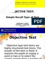 1-Simple Recall Test