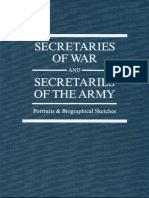 Secretaries of War & Army - Portraits & Bio Sketches by  William Gardner Bell