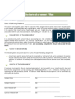 Job Shadowing Agreement Template