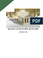 Bazele activitatii bancare