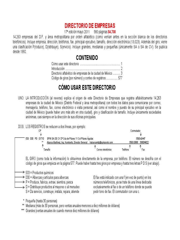 Www.paginasamarillas.es Directorio Online de Empresas
